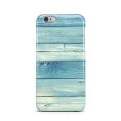 Blue Vintage Wooden Hard Case Cover Apple iPhone 4 4S 5 5S 5c SE 6 6S 7 Plus #Apple