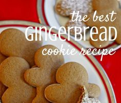 Are you looking for the BEST gingerbread cookie recipe? This isn't the hard gingerbread recipe to make a house with. This recipe leaves a crispy cookie with a soft inside. These can be cutout with your favorite cookie cutter but I always choose the ging Cookie Recipes For Kids, Easy Christmas Cookie Recipes, Healthy Cookie Recipes, Oatmeal Cookie Recipes, Plain Cookie Recipe, Simple Cookie Dough Recipe, Ginger Bread Cookies Recipe, Easy Sugar Cookies, Recipe Cup