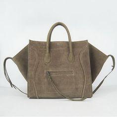 Celine Phantom Bags Suede Leather C6028B Grey