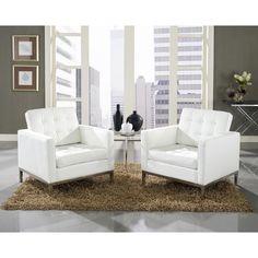 Modway Loft 3 Piece Sofa Set in White