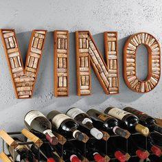 4 Piece VINO Wine Corkboard Frame -