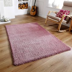 Softness Shaggy Rug. Says mauve but it's a blush pink. Cheaper in Sterling Furniture