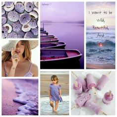 I want to be wild, beautiful and free, just like the sea. #moodboard #mosaic #collage #inspirationboard #byJeetje♡