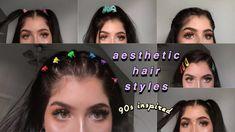 cute aesthetic hairstyles , niedliche sthetische frisuren coiffures esthtiques m. Clip Hairstyles, Romantic Hairstyles, Curled Hairstyles, Vintage Hairstyles, Trendy Hairstyles, Easy Hairstyle, Curly Hair Styles Easy, Short Curly Hair, Medium Hair Styles