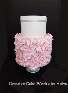 Pink Handkerchief Ruffle Cake