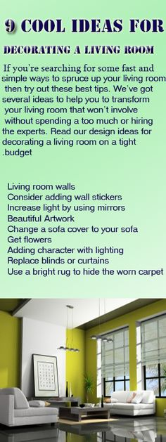If you're searching for some fast and simple ways to spruce up your living room, then try out these best tips
