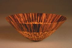 Untitled Vessel #1116, 2005, by Michael Shuler; Zebrawood