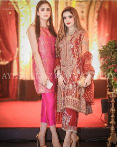 Liked the pink suit. Pakistani Formal Dresses, Pakistani Outfits, Indian Dresses, Indian Outfits, Indian Bridal Fashion, Asian Fashion, Wedding Guest Suits, Indian Designer Wear, Lovely Dresses