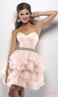 blush pink short bridesmaid dress sweetheart neckline crystal belt tutu rushing