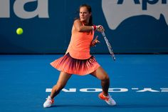 Daria Kasatkina Photos Photos - Daria Kasatkina of Russia plays a forehand shot in her first round match against Timea Babos of Hungary during the 2017 Sydney International at Sydney Olympic Park Tennis Centre on January 8, 2017 in Sydney, Australia. - 2017 Sydney International - Day 1