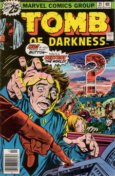 Tomb Of Darkness #21, july 1976, cover by Larry Lieber and Tom Palmer;