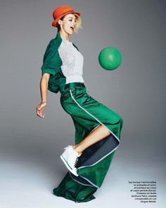 Session Sport: Flavia Lucini By Jacob Sadrak For Marie Claire France May 2014 - Sacai