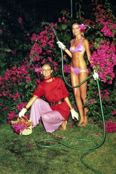 Helmut Newton, Cheryl Teigs and Rene Russo, probably the greatest fashion shoot…