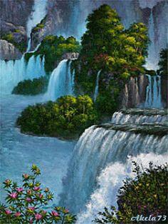 Belles cascades animées