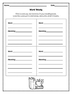 WORD STUDY - TeachersPayTeachers.com
