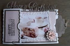 Fancy Fold Cards, Folded Cards, Ticket Card, 3d Studio, Studio Lighting, Cardmaking, Diy And Crafts, Creations, Happy Birthday