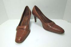 Lauren Ralph Lauren Saddle Tan Brown Leather Pumps Size US 6.5 B   Clothing, Shoes & Accessories, Women's Shoes, Heels   eBay!