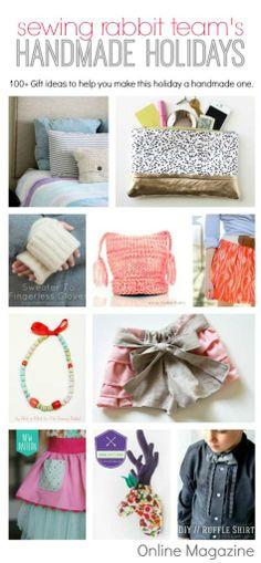 100+ Handmade Gift Ideas for the Holidays at sewbon.com