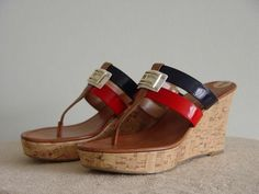 Available @ TrendTrunk.com Tommy Hilfiger wedge sandals Sandals. By Tommy Hilfiger wedge sandals. Only $38.00!