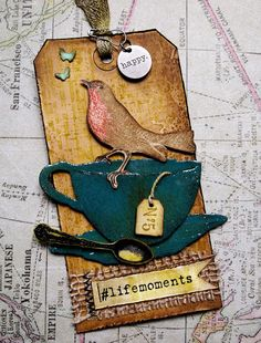 klistersøster: Tim Holtz 12 tags of 2015 - june Atc Cards, Card Tags, Gift Tags, Penny Black, Timmy Time, Tea Tag, Tim Holtz Dies, Card Sentiments, Handmade Tags