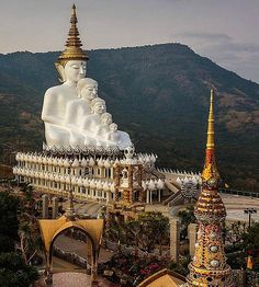 """religions-of-the-world: """"Statue of the Five Sitting Buddhas Wat Phra Kaew Temple Bangkok, Thailand """" Thailand Vacation, Thailand Travel, Asia Travel, Thailand Honeymoon, Thailand Adventure, Croatia Travel, Hawaii Travel, Italy Travel, Oh The Places You'll Go"""