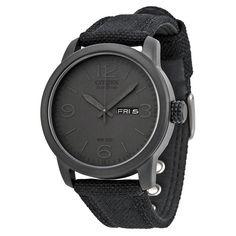 98d83a0fb0af Details about NEW Citizen Men's Black Canvas Eco Drive Watch - BM8475-00F