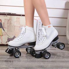 Reniaever F1 Patines de rodillos dobles Women 's 4 ruedas Patines de dos líneas del patín de ruedas Patines Patins Adulto negro zapatillas de Skate para adultos(China (Mainland))