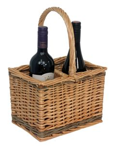 Grab your Bottle Steamed Wicker Bottle Carrier at a great price and enjoy shopping. http://redhamper.co.uk/bottle-steamed-wicker-bottle-carrier/  #drinksbaskets #shoppingbaskets