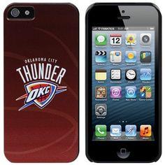 Oklahoma City Thunder iPhone 5 Basketball Snap-On Case - Orange