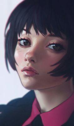 Digital Art Girl, Digital Portrait, Portrait Art, Illustration Girl, Character Illustration, Soul Art, Anime Art Girl, Cartoon Art, Girl Cartoon