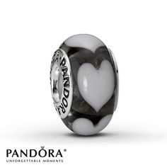 Pandora Clear and White Heart Charm ($35)... would go good with my Zebra one
