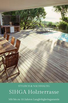Stylische Holzterrasse mit bis zu 10 Jahren Garantie & Wartung. Deck, Patio, Outdoor Decor, Home Decor, Sustainability, Lawn And Garden, Decoration Home, Room Decor, Front Porches