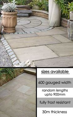 6 easy and alluring water saving lawn alternatives httpbitly1g0slut homepointfinancial diy projects pinterest sandstone paving patios and - Diy Sandstone Patio