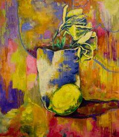 Majestic August Lemons by Margaret Zox Brown on artsrow.com We love, love, love her gorgeous works! #originalart #painting #artsrow