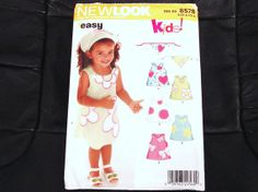 GOT THIS NEW LOOK Series Patterns 6578, Sizes 1/2-4