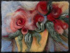 needlefelted roses