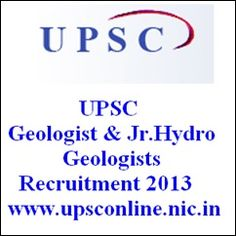 UPSC Geologists Examination 2013