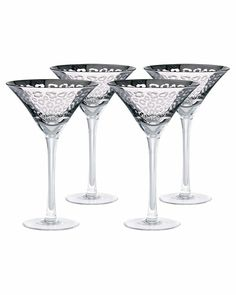 """love these!  """"Leopard"""" Set of 4 Martini Glasses"""