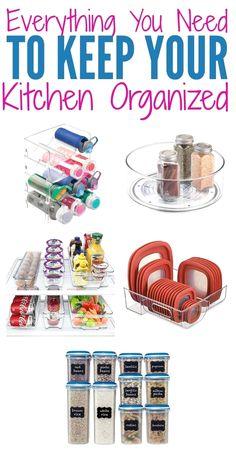 New Smart DIY Organizing Ideas For Small Kitchen #kitchenorganization
