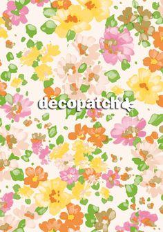 NEUHEIT: unser sommerlich blumiges neues Décopatch-Papier #Décopatch Deutschland #DIY #homedeko #deko #dekoration #Basteln #Papier #Bastelideen #homedeco #selbermachen #decopatch