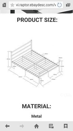 Steel Bed Frame, Security Door, Tool Storage, Beds, Metallic, Furniture, Metal Beds, Blue Prints, Home Furnishings