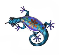 Continental Art Center CAC10389C Lizard with Painted Glass Wall Decor 155 by 102 by 2Inch ** Learn more by visiting the image link.