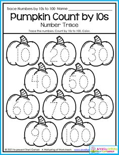 Count to 100 by 10s Halloween math worksheets Kindergarten Halloween worksheets Halloween worksheets for kindergarten Halloween Math Worksheets, Counting Worksheets For Kindergarten, Alphabet Tracing Worksheets, Learn To Count, Math Resources, Math