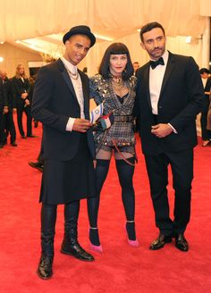 Madonna in Riccardo Tisci (right) at the Met Gala. (Photo: Jennifer Altman for The New York Times)