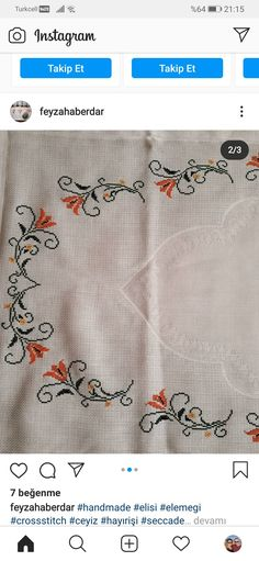 Hand Embroidery, Elsa, Diy And Crafts, Cross Stitch, Handmade, Counted Cross Stitches, Craft, Dish Towels, Punto De Cruz