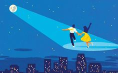 "The idea that nostalgia can be gutsy and purposeful rather than moony and limp is what powers the film ""La La Land."" Click the link in our bio to read Anthony Lane's review of the new movie starring #RyanGosling and #EmmaStone. Illustration by @mistergash. #LaLaLand"