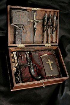 19th century vampire hunting kit!