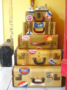 Vintage Suitcases  ADD STICKERS