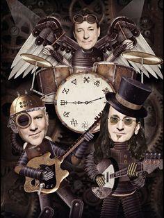 "Interesting Rush picture for ""Clockwork Angels"" IMHO, the best Rush album ever!"