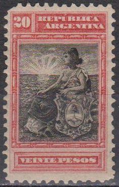 Argentina #142 F-VF Unused CV $200.00 (A13159) - bidStart (item 46390453 in Stamps... Argentina)